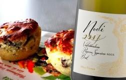 Muffin salati gorgonzola pere e noci Nodi 2017 Valdobbiadene Prosecco Superiore Nino Franco