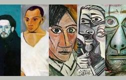 7 autoritratti di Picasso di diversi periodi in 70 anni