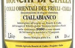 Ronchi di Cialla Friuli Colli Orientali Ciallabianco 2016