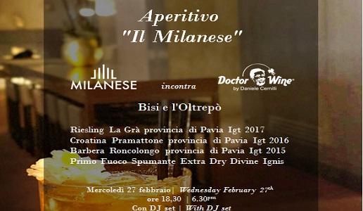 aperitivo Rosa Grand 27 febbraio milano