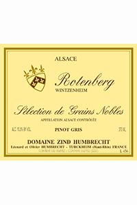 domaine zind humbrecht alsace  selection de grains noble Rotenberg Wintzenheim etichetta