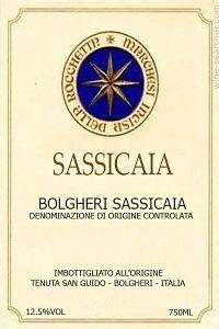 tenuta san guido sassicaia bolgheri vino rosso toscana etichetta doctorwine