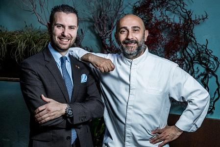 Anthony Genovese chef - Matteo Zappile maitre ristorante Pagliaccio Roma